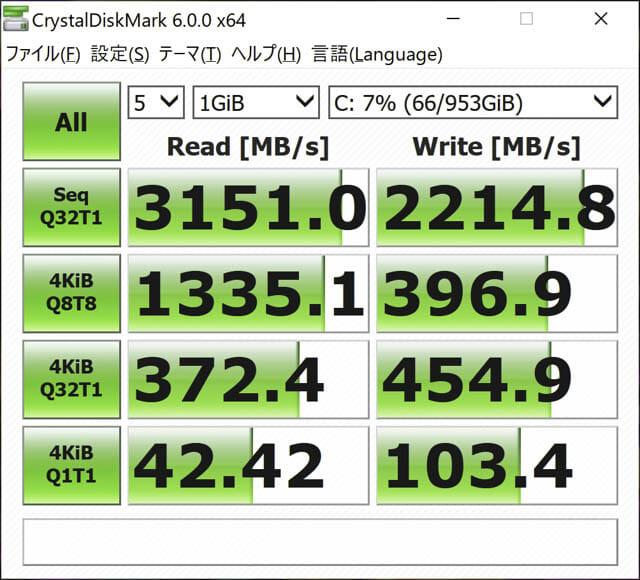ASUS-ZenBookProDuo ベンチマーク-CrystalDiskMark