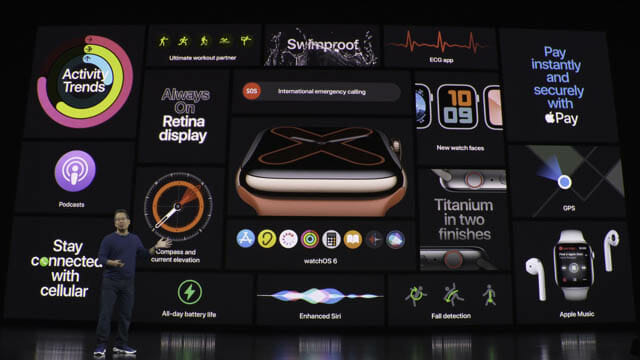 AppleEvent201909 AppleWatch5新機能