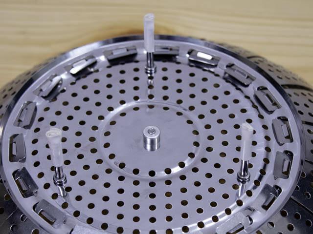 ショップジャパン-クッキングプロ ダイソーステンレス折りたたみ蒸し器-足養生
