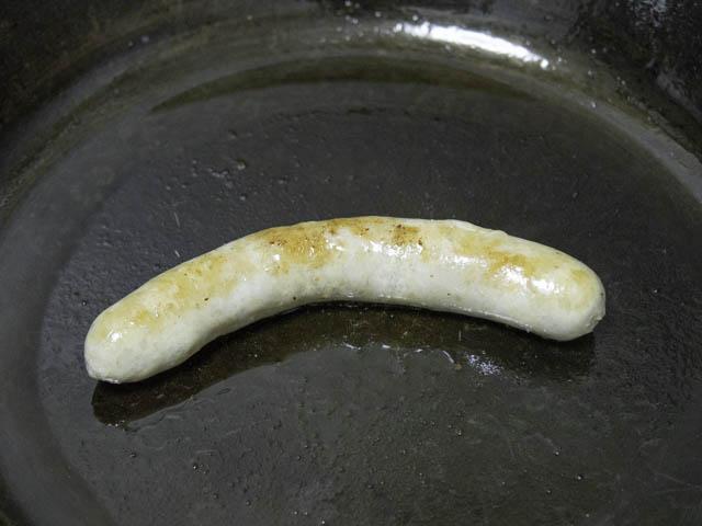 コストコ-生ソーセージ 焼く