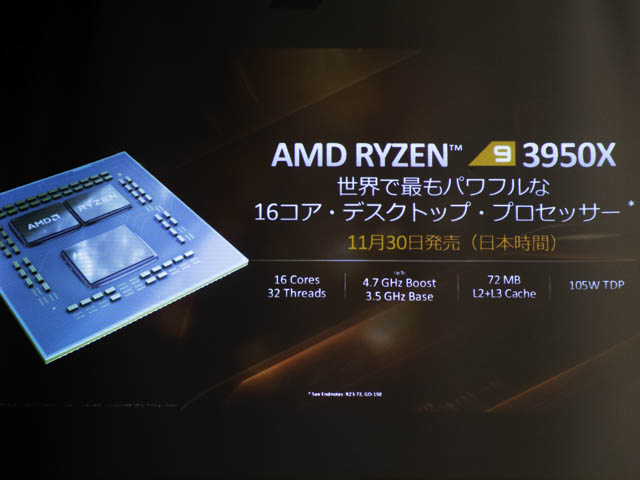 AMD-Ryzen-9-3950X 1130発売