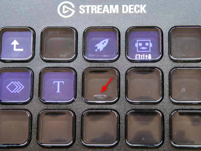 ElgatoStreamDeck_15個モデル-中央ボタン突起