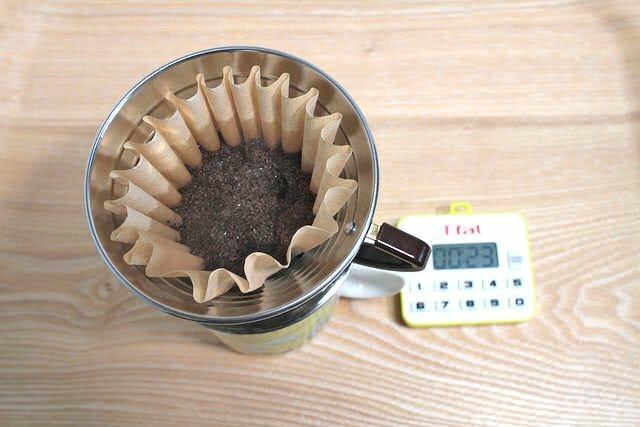 11コーヒー豆蒸らす