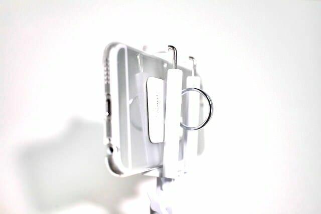 9自撮り棒iPhone6取り付け