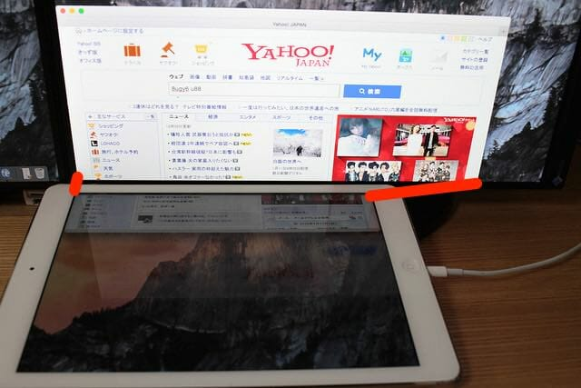 6 2Yahooページ表示iPad Air
