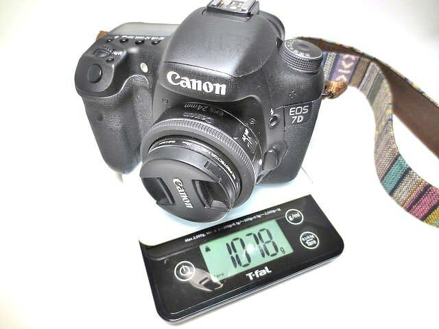 11EOS 7D EF S24mm重量
