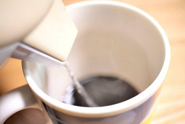 大人のチョコレートコーヒーお湯
