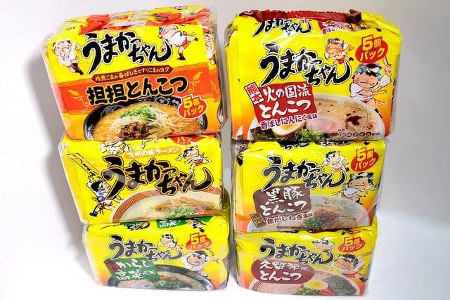 3 うまかっちゃん6種5個入りパッケージ