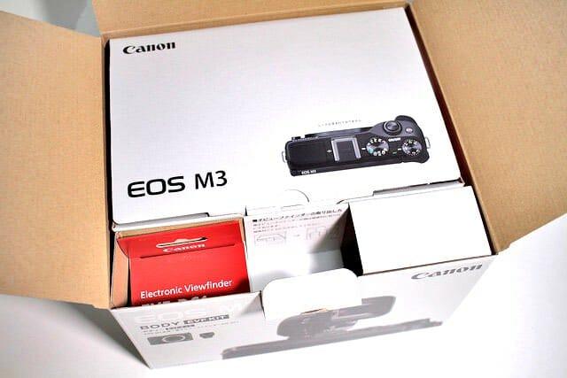 EOS M3 内パッケージ