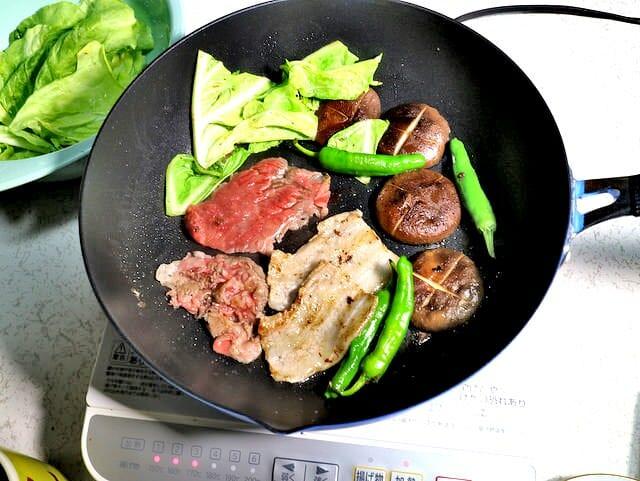 照英フライパン 焼き肉