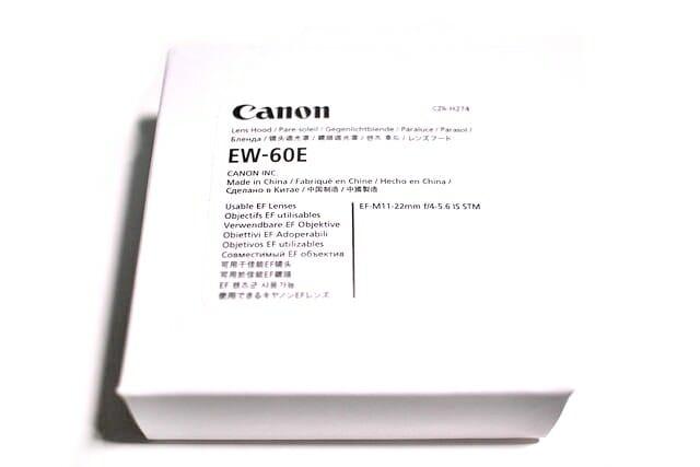EF M11 22mm EW 60E パッケージ