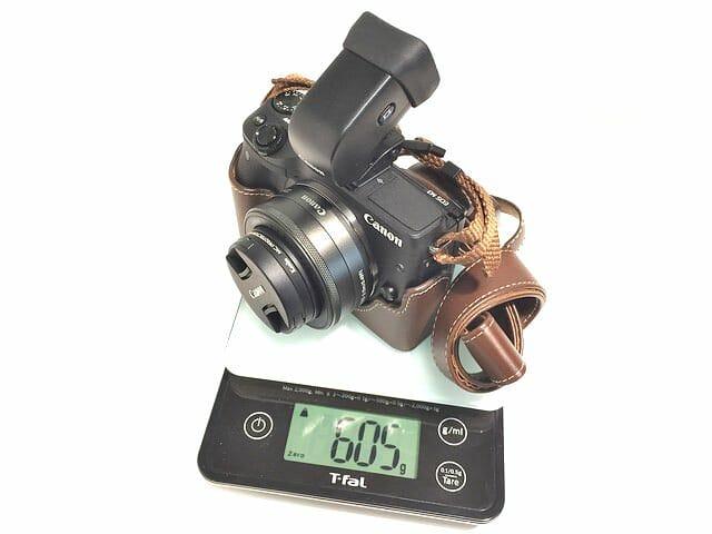 EOS M3撮影時総重量