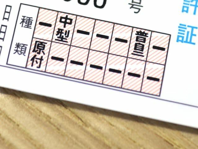 普通二輪免許証 表