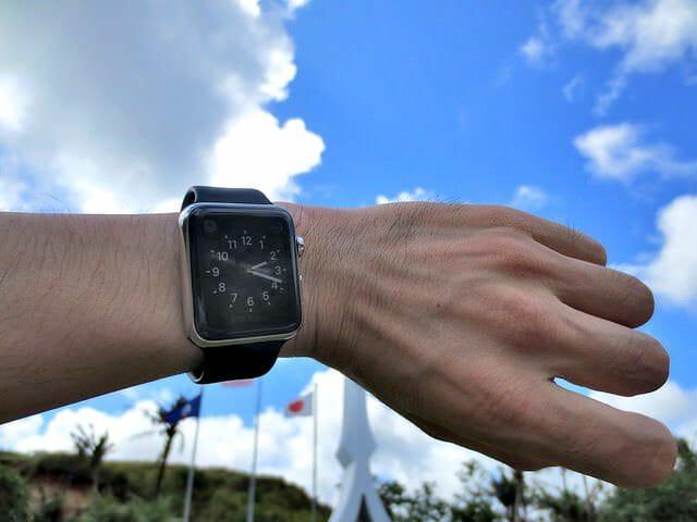 Apple Watch 炎天下