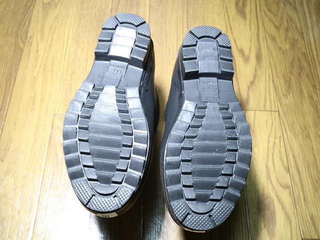 バイク雨対策ショート長靴たんたんブーツ靴底