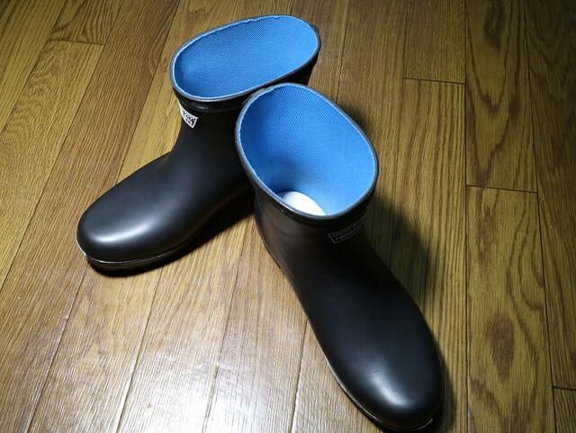 バイク雨対策ショート長靴たんたんブーツ開封