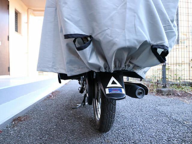 バイクカバー後輪