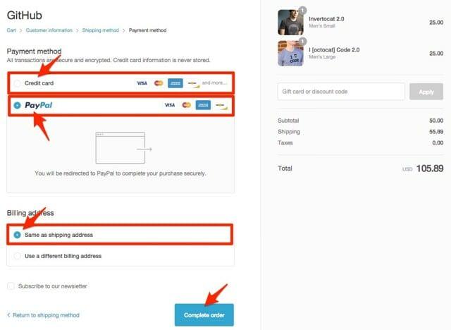 GitHubグッズ購入方法支払い方法
