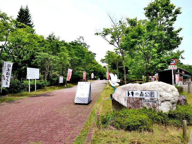 佐渡島トキの森公園入口