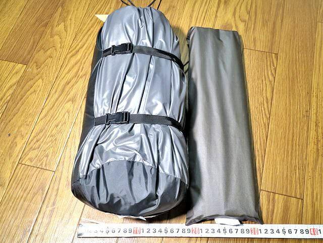 アライテント本体フレーム収納袋幅サイズ