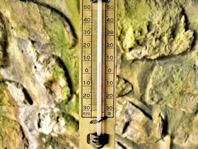 佐渡島金山坑道温度計