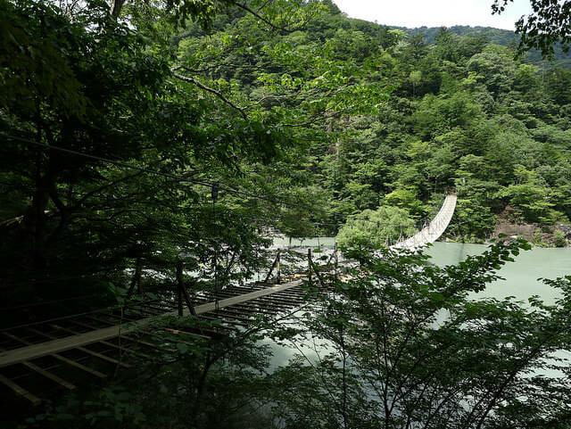 寸又峡夢の吊橋横面