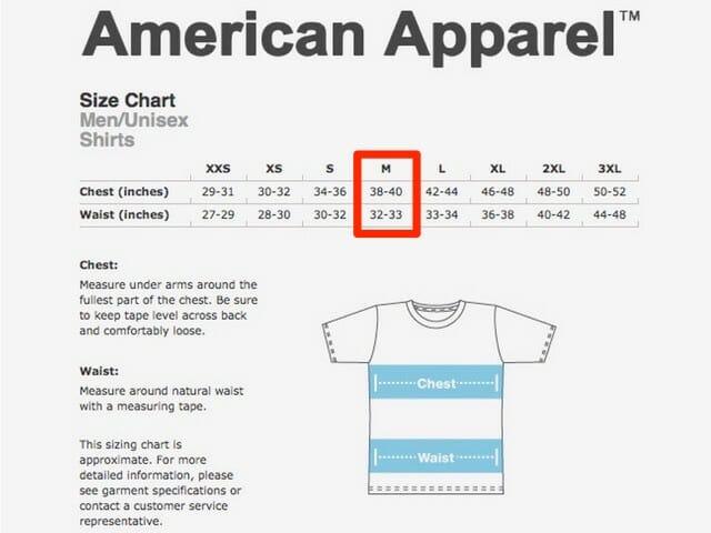 WordPressTシャツWEBサイズ表