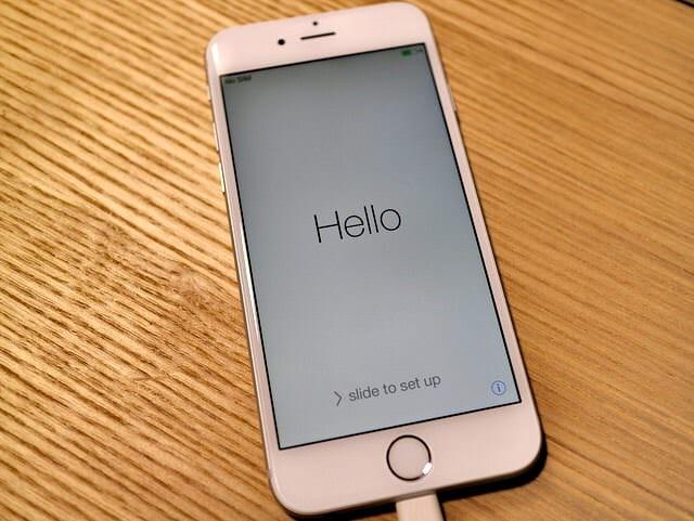 IPhone6交換品起動