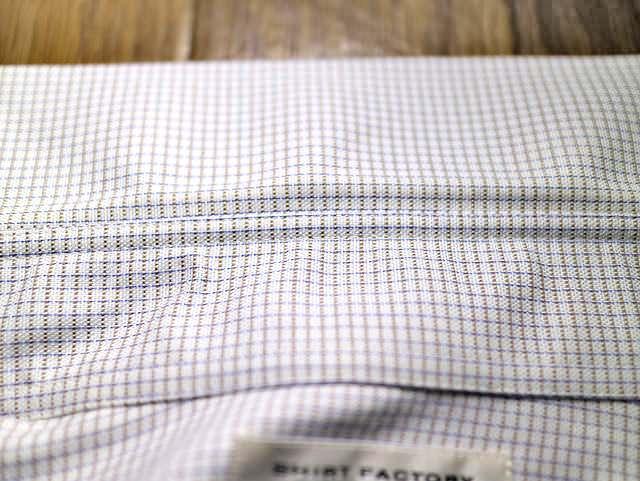 ワイシャツ黒ずみ洗濯後ズーム