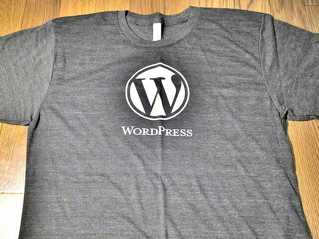 WordPressTシャツWP Logo With Text Black Tri Blend