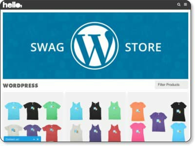 WordPressTシャツ公式ショップWEB