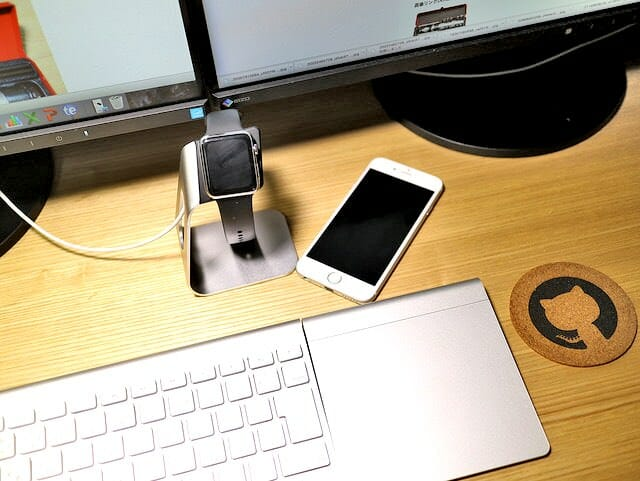 AppleWatchスタンド使用イメージ