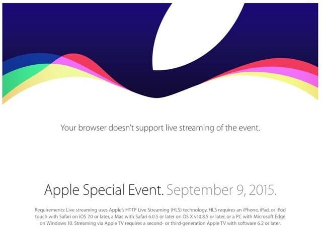Appleイベント20150909ロゴ