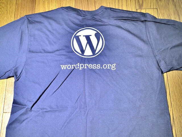 WordPressTシャツWP Admin Navy Blue T Shirt後
