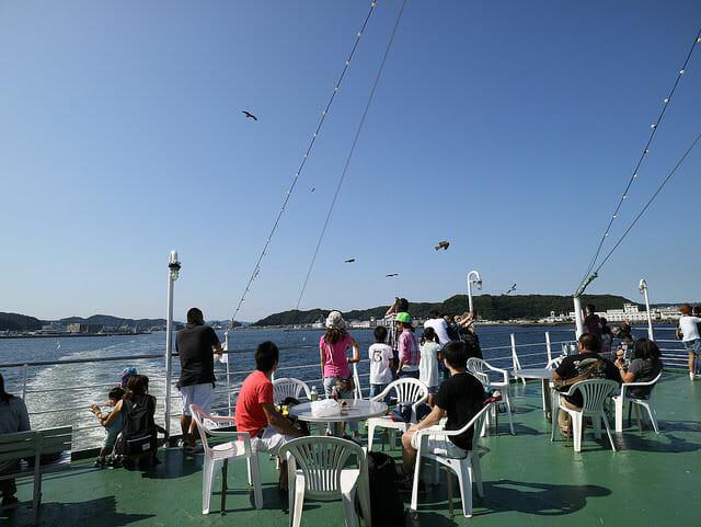 東京湾フェリーかなや丸遊歩甲板