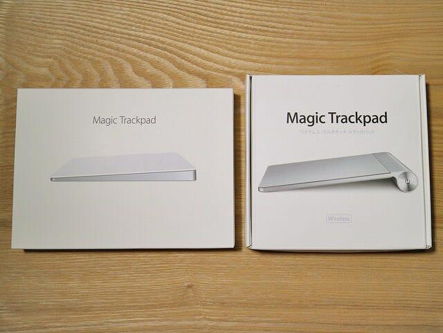 MagicTrackpad2旧式比較パッケージ