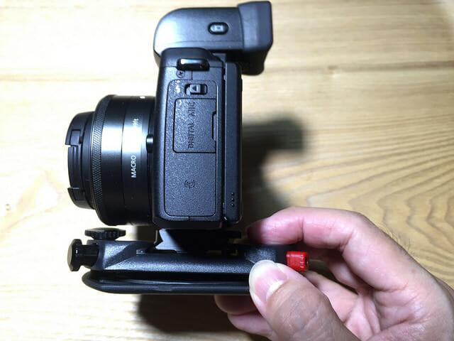 PeakDesignPL M1カメラクリップ挿入