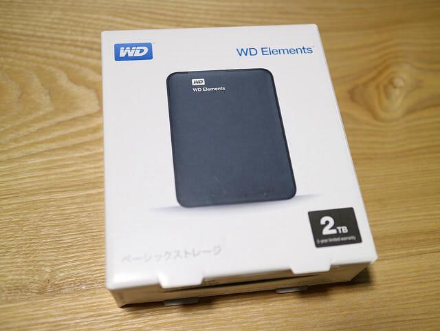 WDElementsPortable2TBWDBU6Y0020BBKパッケージ