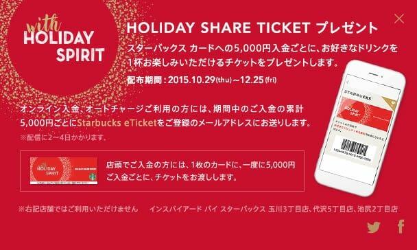 スタバクリスマスブレンドチケットプレゼント広告