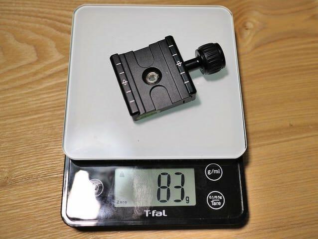 クイックリリースクランプ重量