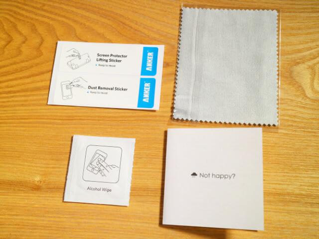 IPhone6タフ保護ケース保護ガラス取付用付属品
