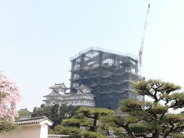 姫路城足場