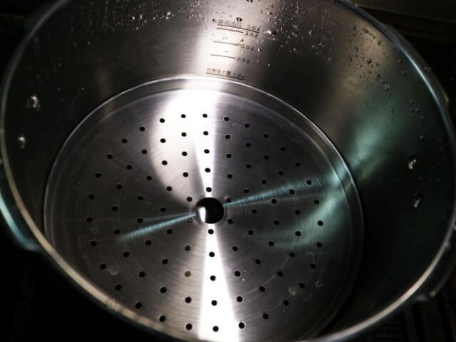 圧力鍋蒸しす