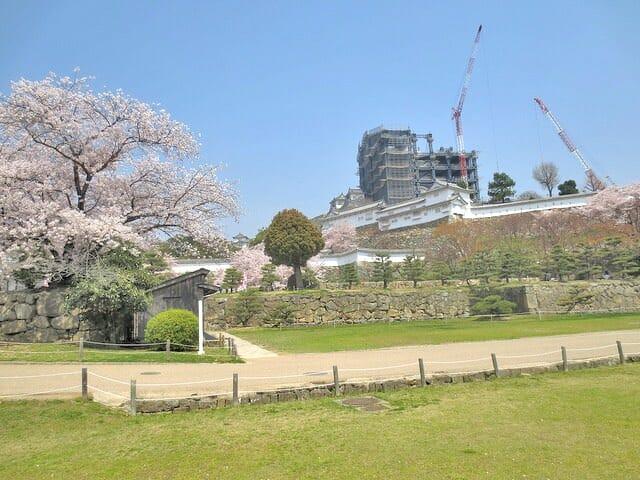 姫路城工事中
