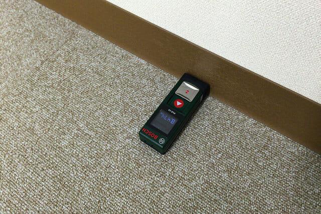 レーザー距離計部屋内法寸法