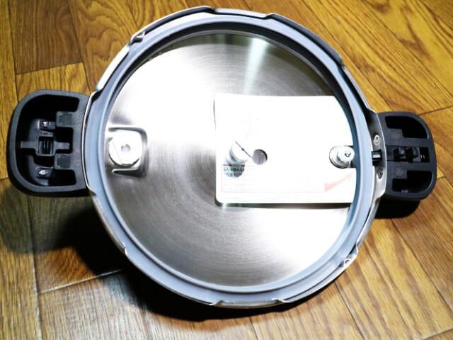 圧力鍋フタ裏側