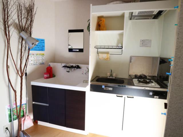 AirbnbB館共有キッチン