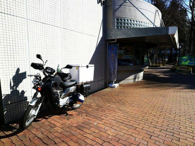 宇宙科学研究所 相模原キャンパス バイク置場