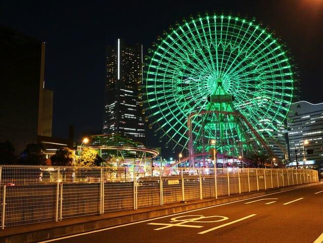 横浜ランドマークタワー観覧車夜景
