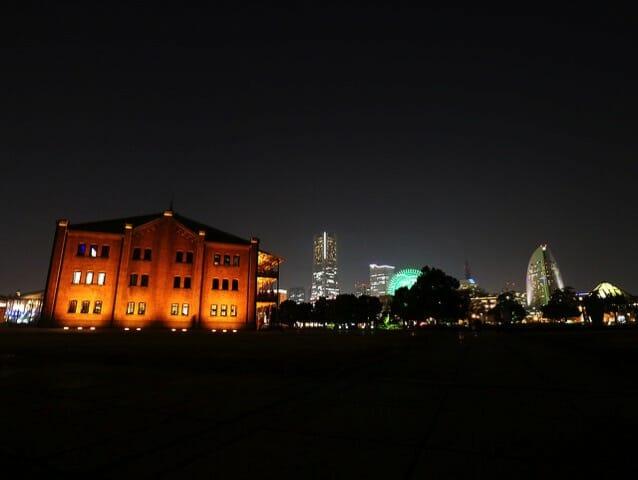 赤レンガ倉庫奥側夜景